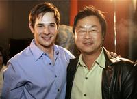 Ryan Merriman and James Wong at the premiere of