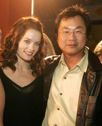 Gina Holden and James Wong at the premiere of