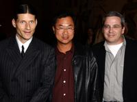 Crispin Glover, James Wong and Glen Morgan at the premiere of