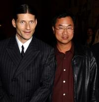 Crispin Glover and James Wong at the premiere of