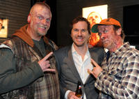 Brett Wagner, director Breck Eisner and Thomas Rounds at the California premiere of