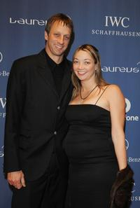 Tony Hawk and wife at the Laureus World Sports Awards.