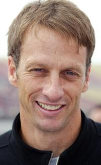Tony Hawk at the Toyota 400 Indy car race.