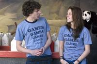 Jesse Eisenberg and Kristen Stewart in