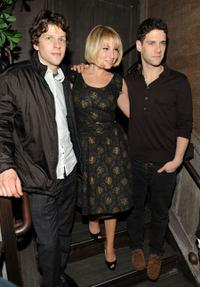 Jesse Eisenberg, Ari Graynor and Justin Bartha at the after party of the New York premiere of