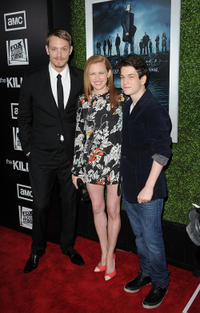 Joel Kinnaman, Mireille Enos and Liam James at the California premiere of