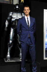 "Joel Kinnaman at the California premiere of ""Robocop."""