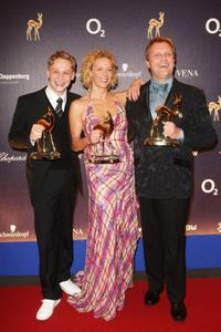 Matthias Schweighofer, Katja Riemann and Hape Kerkeling at the Annual Bambi Awards 2007.