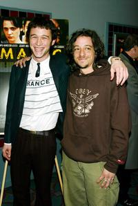 Joseph Gordon-Levitt and Michael Bacall at the New York premiere of