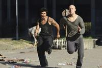 David Belle as Leito and Cyril Raffaelli as Damien in