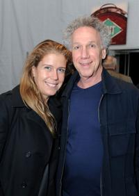 Bob Gruen and Elizabeth Gruen at the Mercedes-Benz Fashion Week.