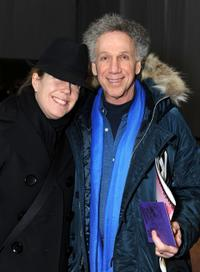Bob Gruen and Guest at the Mercedes-Benz Fall 2009 Fashion Week.
