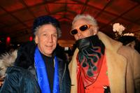 Bob Gruen and Supla at the Mercedes-Benz Fashion Week Fall 2008.