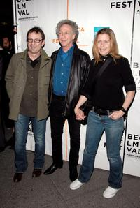 Jean Luc Ledue, Bob Gruen and Elizabeth Gregory at the premiere of