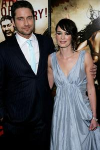Lena Headey and  Gerard Butler at the premiere of