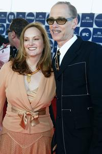 Patricia Hearst and MC John Waters at the 2004 IFP Independent Spirit Awards.