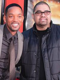 Will Smith and Heavy D at the hand and footprint ceremony.