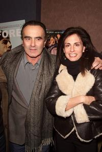 Dan Hedaya and Guest at the premiere of