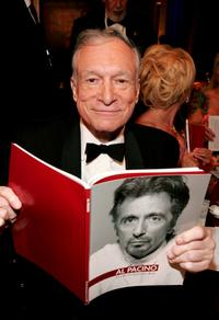 Hugh Hefner at the 35th AFI Life Achievement Award tribute to Al Pacino.