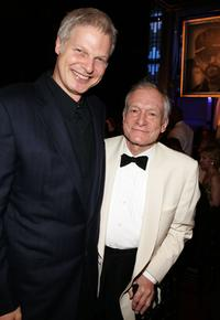 Producer Stephen Bing and Hugh Hefner at the 34th AFI Life Achievement Award tribute to Sir Sean Connery.
