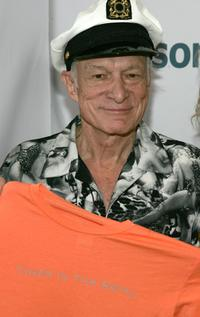 Hugh Hefner at the unveiling of Holly Madison's