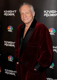 Hugh Hefner at the premiere of