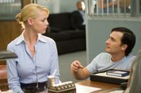 Katherine Heigl and Director Robert Luketic on the set of