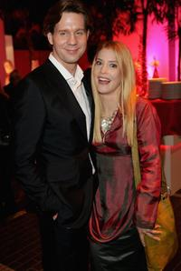 Thomas Heinze and Susanne Gaertner at the Herz fuer Kinder charity gala.