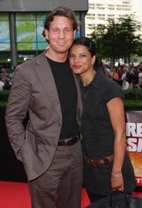 Thomas Heinze and Jackie Brown at the German premiere of