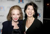 Helen Gurley Brown and Pamela Fiori at the auction of photographer Francesco Scavullo's work benefiting Fountain House.