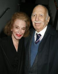 Helen Gurley Brown and Producer David Brown at the opening reception of the Israeli Film Festival.