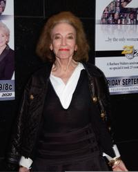 Helen Gurley Brown at the celebration in honor of Barbara Walters and 25 years of