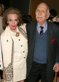 Helen Gurley Brown and David Brown at the premiere of
