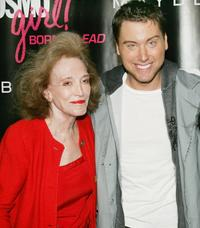 Helen Gurley Brown and Lance Bass at the 2007 CosmoGIRL! Born to Lead Awards.