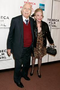 Producer David Brown and Helen Gurley Brown at the premiere of