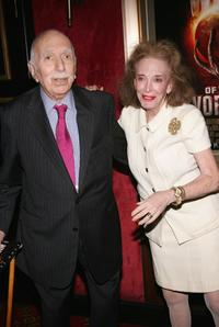 David Brown and Helen Gurley Brown at the premiere of