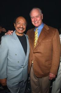 Sherman Hemsley and Larry Hagman at the MTV Networks Upfront 2003 Presentation.