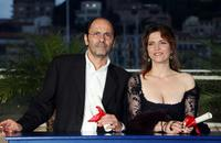 Jean-Pierre Bacri and Agnes Jaoui at the 57th Cannes Film Festival.