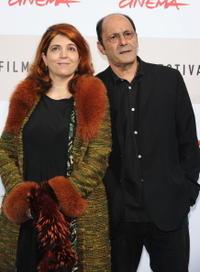 Agnes Jaoui and Jean-Pierre Bacri at the photocall of