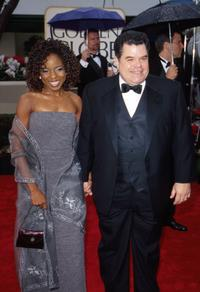 Michael Badalucco and Lisa Gay Hamilton at the 57th Annual Golden Globe Awards.
