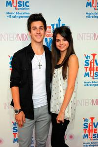 David Henry and Selena Gomez at the Intermix's 3rd Annual