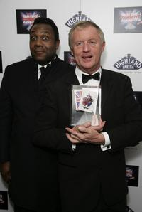 Lenny Henry and Chris Tarrant at the British Comedy Awards 2006.