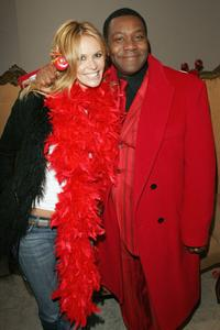 Elle MacPherson and Lenny Henry at the Comic Relief Press Launch.