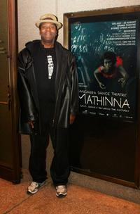 Lenny Henry at the opening night of the Bangarra Dance Theatre.