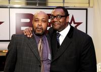 Glen Yearwood and Lenny Henry at the UK launch of Black Entertainment Television.