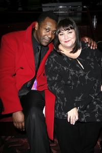 Lenny Henry and Dawn French at the after party of the
