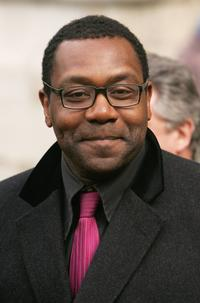 Lenny Henry at the Memorial Service For Comedian Ronnie Barker.
