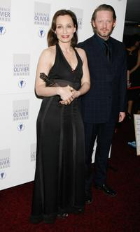 Kristin Scott Thomas and Douglas Henshall at the Laurence Olivier Awards.