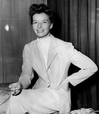 Katharine Hepburn at a reception in London.