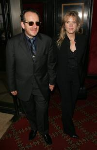 Elvis Costello and Diana Krall at the premiere of